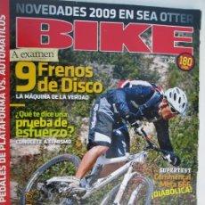 Coleccionismo deportivo: BIKE REVISTA Nº 201 -1-2009 PREPARA TU MEJOR AÑO . Lote 179553132