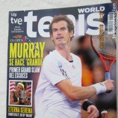 Coleccionismo deportivo: REVISTA TENIS WORLD TDP TVE Nº 41 MURRAY SERENA DAVID FERRER. . Lote 179553330