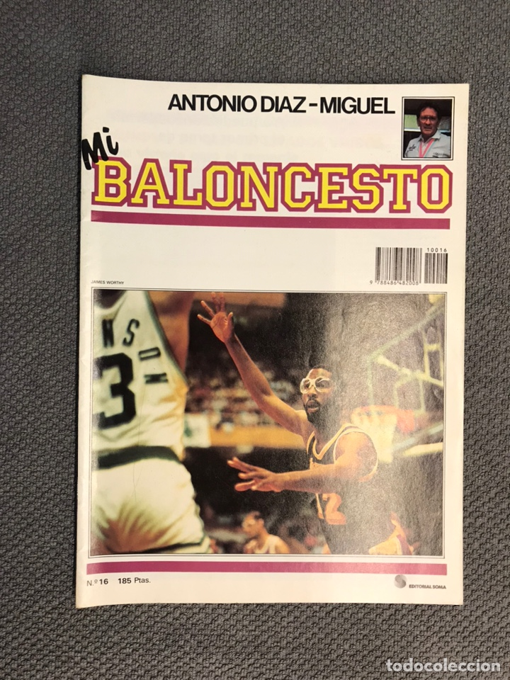 MI BALONCESTO, POR ANTONIO DÍAZ-MIGUEL. EDITA: ED. SOMA. NO.16, POSTER FLEMING. (A.1985) (Coleccionismo Deportivo - Revistas y Periódicos - otros Deportes)