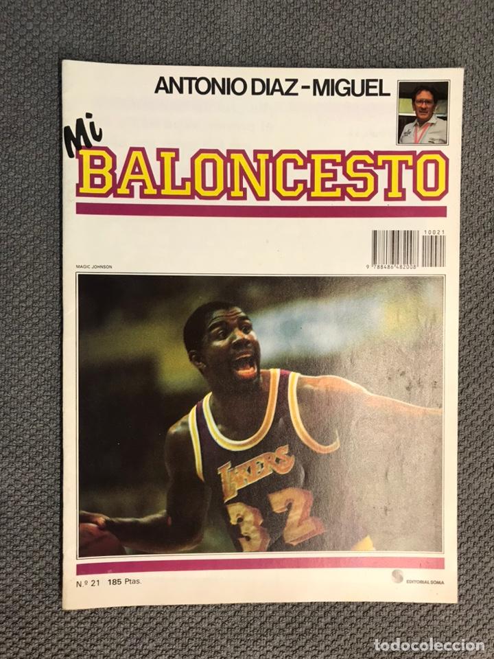 MI BALONCESTO, POR ANTONIO DÍAZ-MIGUEL. EDITA: ED. SOMA. NO.21, POSTER EPI. (A.1985) (Coleccionismo Deportivo - Revistas y Periódicos - otros Deportes)