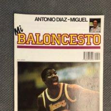 Coleccionismo deportivo: MI BALONCESTO, POR ANTONIO DÍAZ-MIGUEL. EDITA: ED. SOMA. NO.21, POSTER EPI. (A.1985). Lote 179949951