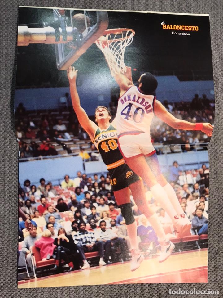 Coleccionismo deportivo: MI BALONCESTO, por Antonio Díaz-Miguel. Edita: Ed. SOMA. No.23, POSTER DONALDSON. (a.1985) - Foto 2 - 179951173