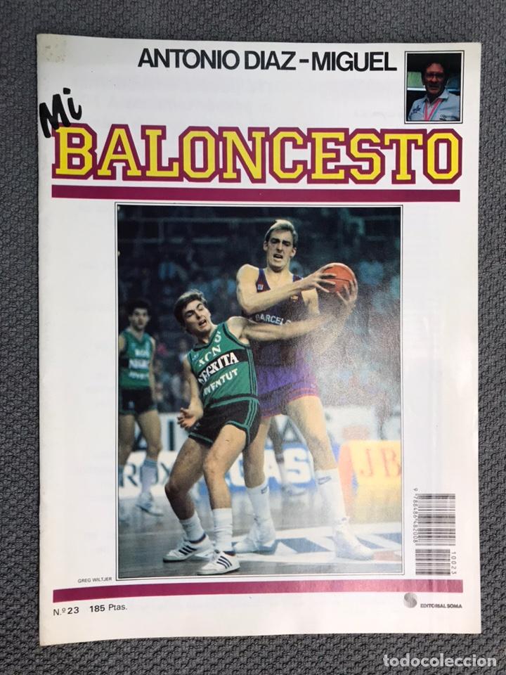 MI BALONCESTO, POR ANTONIO DÍAZ-MIGUEL. EDITA: ED. SOMA. NO.23, POSTER DONALDSON. (A.1985) (Coleccionismo Deportivo - Revistas y Periódicos - otros Deportes)