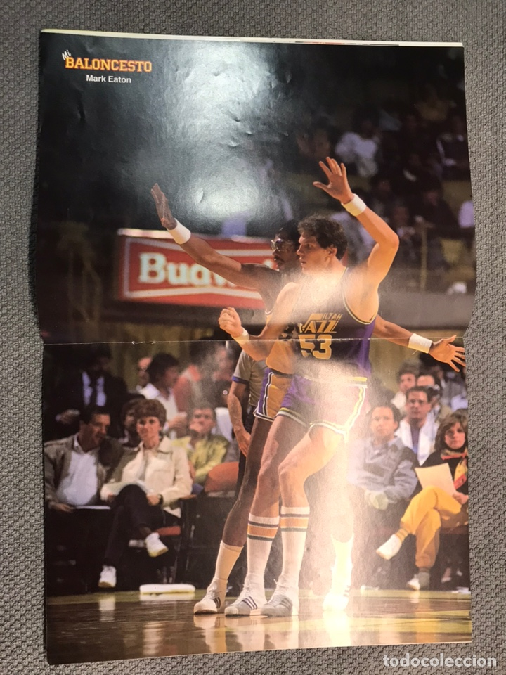 Coleccionismo deportivo: MI BALONCESTO, por Antonio Díaz-Miguel. Edita: Ed. SOMA. No.25, POSTER MARK EATON. (a.1985) - Foto 2 - 179951603