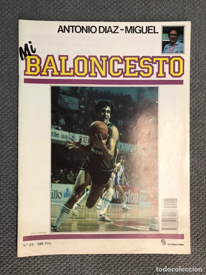 MI BALONCESTO, POR ANTONIO DÍAZ-MIGUEL. EDITA: ED. SOMA. NO.25, POSTER MARK EATON. (A.1985) (Coleccionismo Deportivo - Revistas y Periódicos - otros Deportes)
