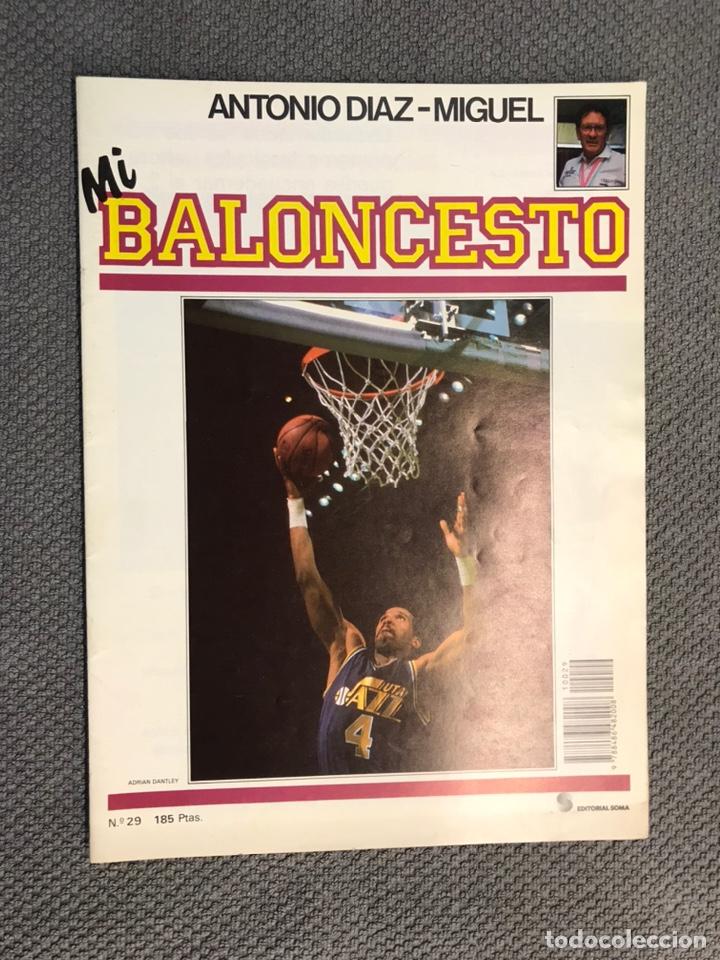 MI BALONCESTO, POR ANTONIO DÍAZ-MIGUEL. EDITA: ED. SOMA. NO.29, POSTER, SINGLETON . (A.1985) (Coleccionismo Deportivo - Revistas y Periódicos - otros Deportes)
