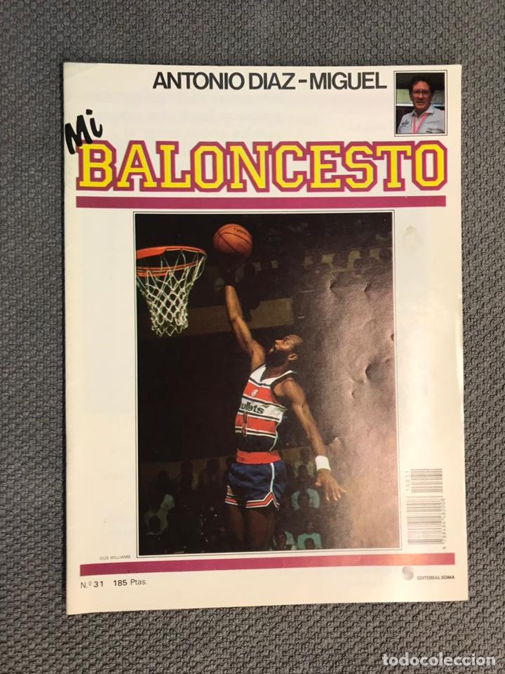 MI BALONCESTO, POR ANTONIO DÍAZ-MIGUEL. EDITA: ED. SOMA. NO.31, POSTER, WALTER DAVIS. (A.1985) (Coleccionismo Deportivo - Revistas y Periódicos - otros Deportes)