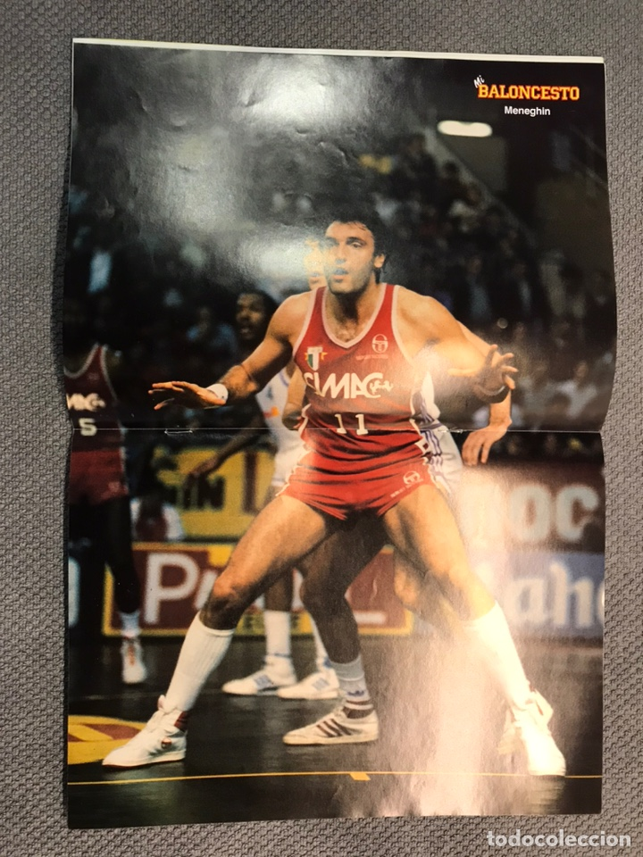 Coleccionismo deportivo: MI BALONCESTO, por Antonio Díaz-Miguel. Edita: Ed. SOMA. No.34, POSTER, MENEGHIN . (a.1985) - Foto 2 - 179954312