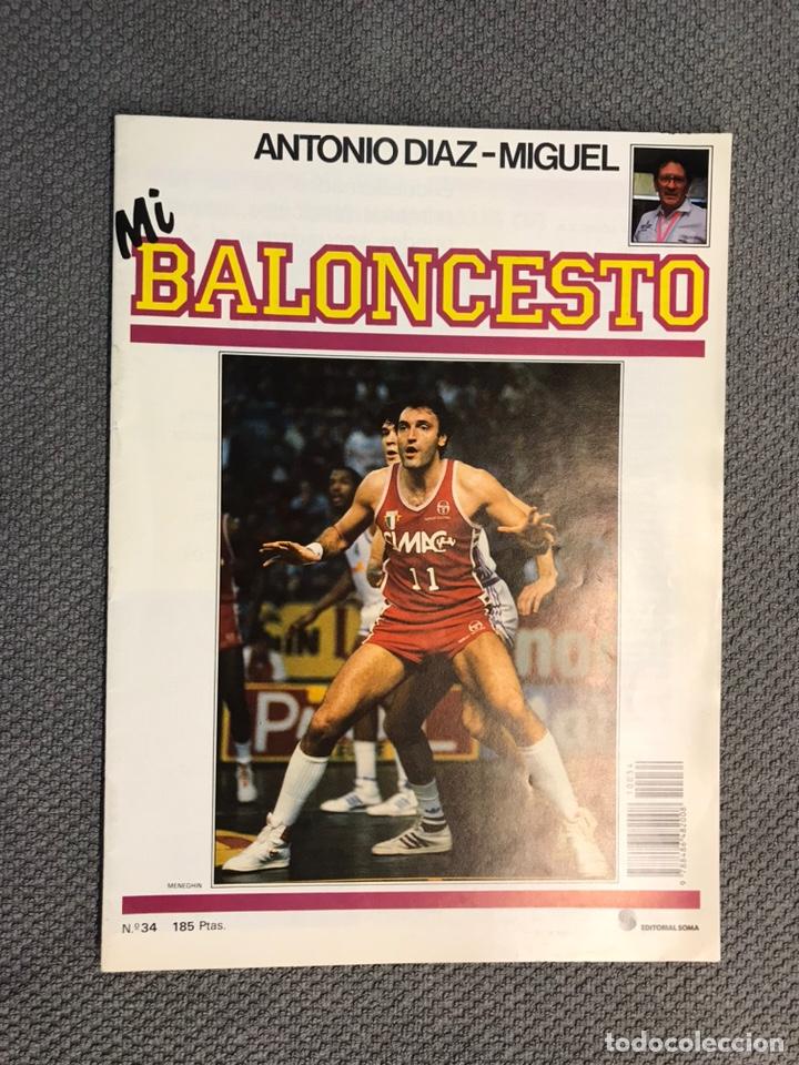 MI BALONCESTO, POR ANTONIO DÍAZ-MIGUEL. EDITA: ED. SOMA. NO.34, POSTER, MENEGHIN . (A.1985) (Coleccionismo Deportivo - Revistas y Periódicos - otros Deportes)