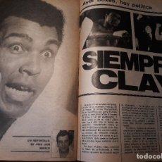 Coleccionismo deportivo: BOXEO - REPORTAJE DE CASSIUS CLAY - AÑO 1981 - 5 PAGINAS . Lote 179957302
