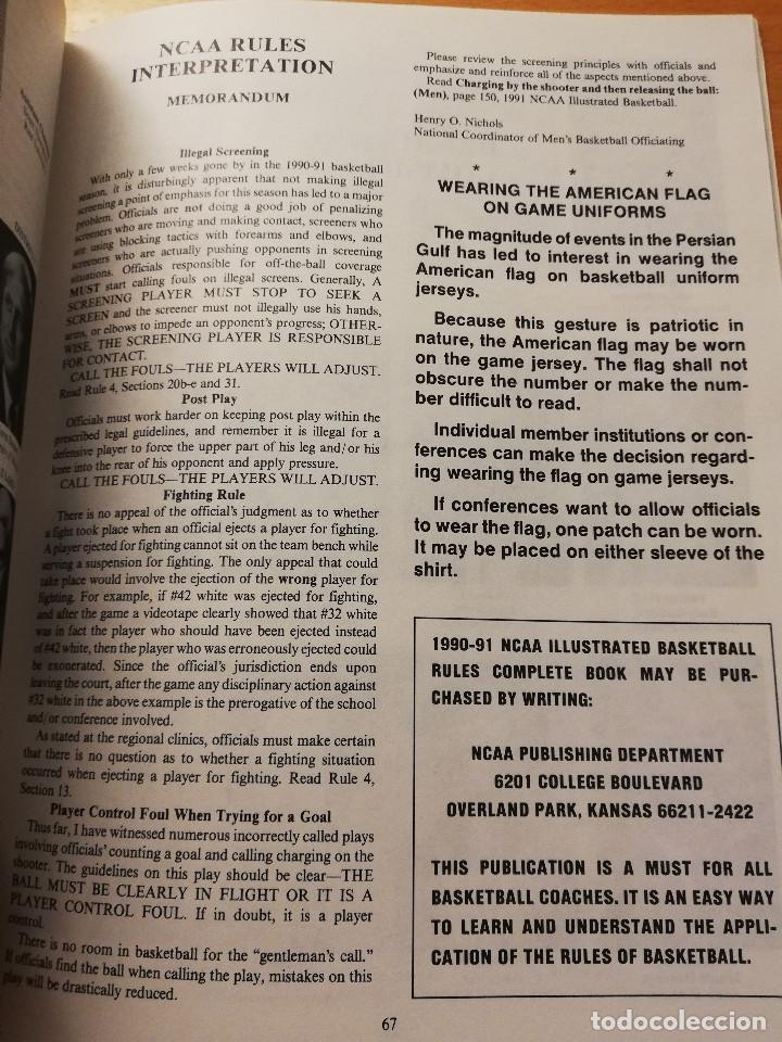 Coleccionismo deportivo: THE BASKETBALL BULLETIN. SPRING 1991 (NABC) - Foto 3 - 179962580