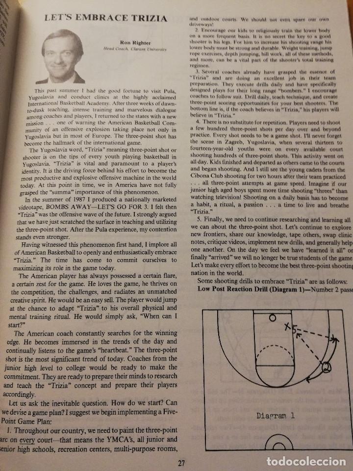 Coleccionismo deportivo: THE BASKETBALL BULLETIN. SPRING 1991 (NABC) - Foto 9 - 179962580