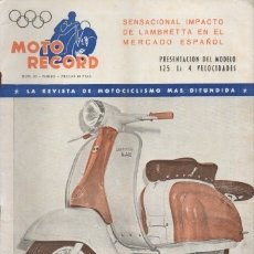 Collectionnisme sportif: REVISTA MOTO RECORD. MARZO 1962 - Nº 85 AÑO VIII. - A-REV-1604. Lote 180030441
