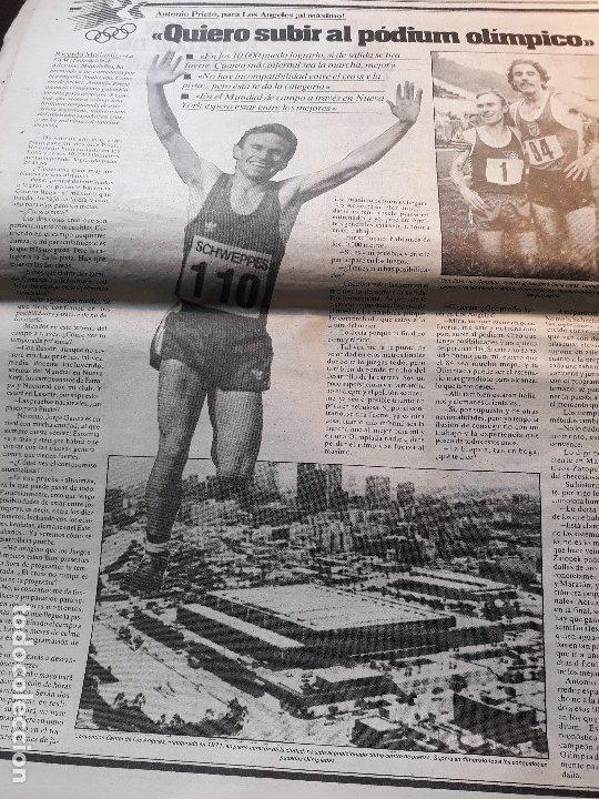 ATLETA ANTONIO PRIETO , QUIERO SUBIR AL PÓDIUM OLIMPICO -RECORTE DE PRENSA AÑO 1983 -HOJA (Coleccionismo Deportivo - Revistas y Periódicos - otros Deportes)