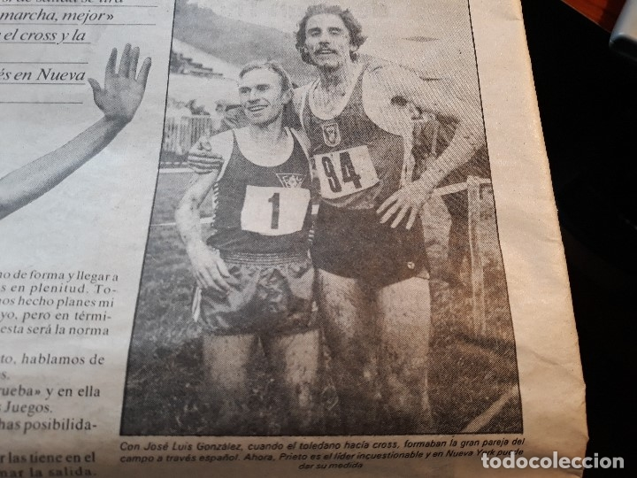 Coleccionismo deportivo: ATLETA ANTONIO PRIETO , QUIERO SUBIR AL PÓDIUM OLIMPICO -RECORTE DE PRENSA AÑO 1983 -HOJA - Foto 3 - 180164040