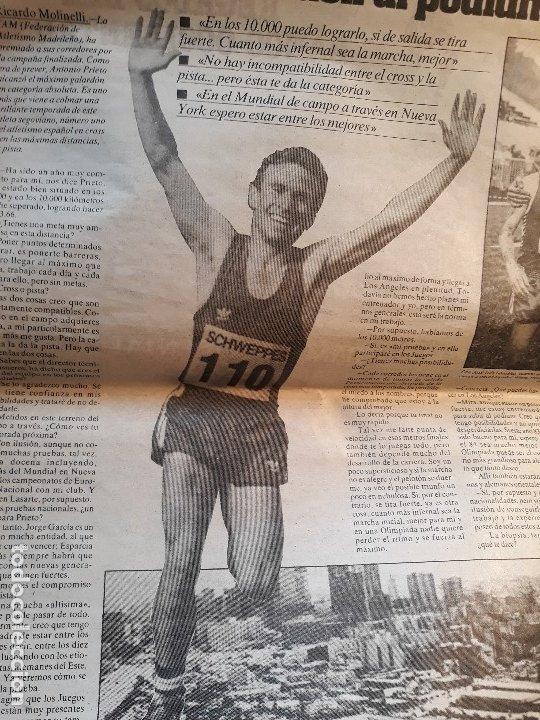 Coleccionismo deportivo: ATLETA ANTONIO PRIETO , QUIERO SUBIR AL PÓDIUM OLIMPICO -RECORTE DE PRENSA AÑO 1983 -HOJA - Foto 4 - 180164040