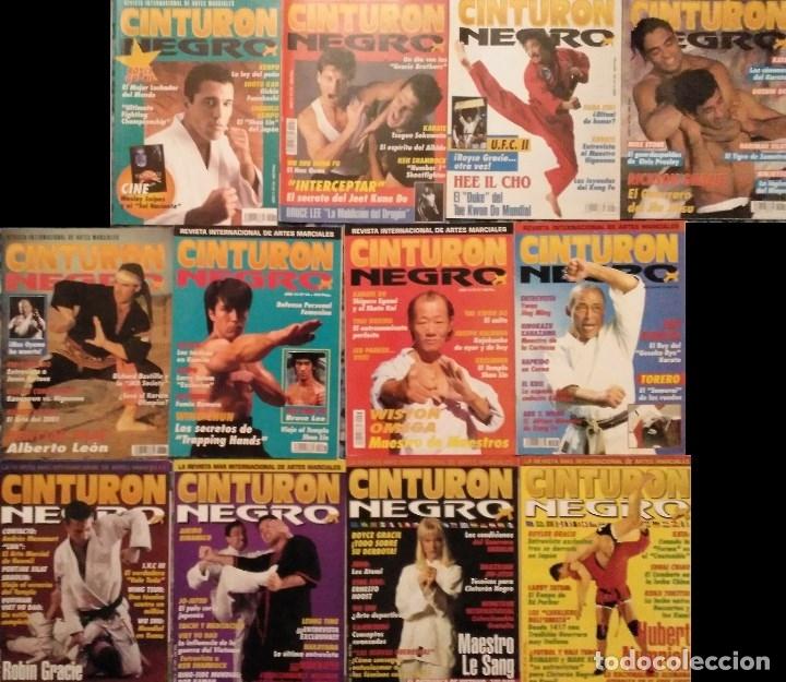 LOTE DE 13 REVISTAS DE ARTES MARCIALES ''CINTURÓN NEGRO'' (AÑOS 90) (Coleccionismo Deportivo - Revistas y Periódicos - otros Deportes)