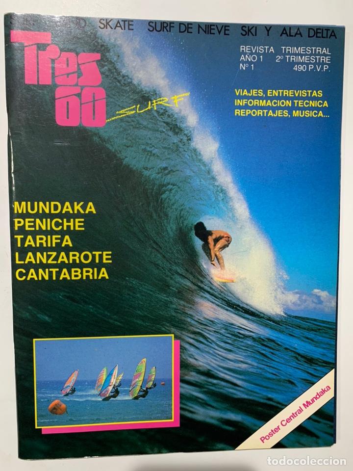 REVISTA DE SURF SKATE WIND SKI TRES 60 AÑO 1 Nº 1 (Coleccionismo Deportivo - Revistas y Periódicos - otros Deportes)