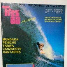 Coleccionismo deportivo: REVISTA DE SURF SKATE WIND SKI TRES 60 AÑO 1 Nº 1. Lote 180246578