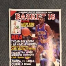 Coleccionismo deportivo: BASKET 16, NO.64, NBA, THOMAS LE CORTÓ LAS ALAS A WILKINS .. PÓSTER LARRY BIRD .. Lote 180471566