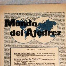 Coleccionismo deportivo: AJEDREZ.REVISTA MUNDO DEL AJEDREZ.Nº 9.SEPTIEMBRE 1965.. Lote 180482933