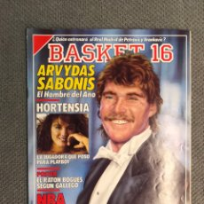 Coleccionismo deportivo: BASKET 16, NO.66, ARBYDAS SABONIS. EL HOMBRE DEL AÑO.. PÓSTER EL RATÓN BOGUES ..(8 DE ENERO DE 1989). Lote 180497008