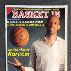 Coleccionismo deportivo: BASKET 16, NO.70, N B A. YA HAY TITULARES PARA EL ALL STAR ..PÓSTER PAT EWING (5 DE FEBRERO DE 1989). Lote 180503770