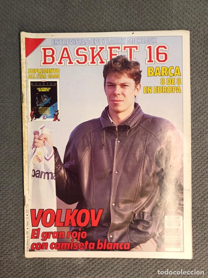 BASKET 16, NO.71, VOLKOV EL GRAN ROJO CON CAMISETA BLANCA ..PÓSTER NBA HOUSTON (Coleccionismo Deportivo - Revistas y Periódicos - otros Deportes)