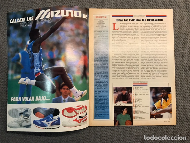 Coleccionismo deportivo: BASKET 16, No.72, FERNANDO MARTÍN,la fuerza del Madrid..PÓSTER MARK PRICE (19 de Febrero de 1989) - Foto 2 - 180504527
