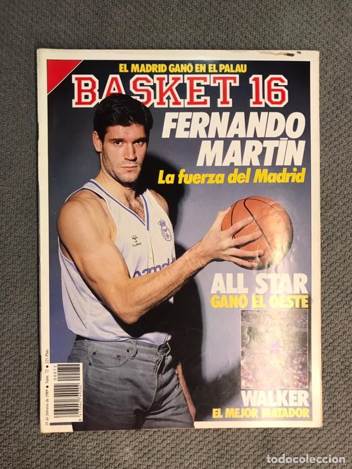 BASKET 16, NO.72, FERNANDO MARTÍN,LA FUERZA DEL MADRID..PÓSTER MARK PRICE (19 DE FEBRERO DE 1989) (Coleccionismo Deportivo - Revistas y Periódicos - otros Deportes)