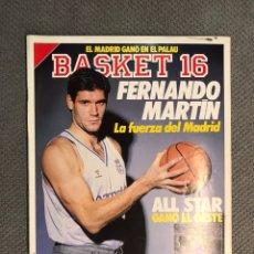 Coleccionismo deportivo: BASKET 16, NO.72, FERNANDO MARTÍN,LA FUERZA DEL MADRID..PÓSTER MARK PRICE (19 DE FEBRERO DE 1989). Lote 180504527