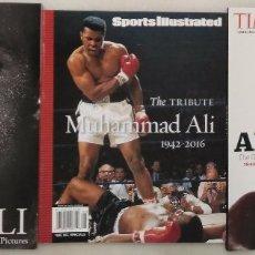 Coleccionismo deportivo: ESPECIALES SOBRE MUHAMMAD ALI DE LAS REVISTAS ''LIFE'', ''TIME'' Y ''SPORTS ILLUSTRATED'' (2016). Lote 180516136