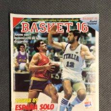 Coleccionismo deportivo: BASKET 16, NO.91, ZAGREB 89, ESPAÑA SOLO FUE QUINTA. (2 DE JULIO DE 1989). Lote 180873952