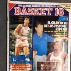 Coleccionismo deportivo: BASKET 16, NO.94, EL GRAN RETO DE LOS PISTONS... (21 DE JULIO DE 1989). Lote 180875637