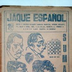 Coleccionismo deportivo: JAQUE ESPAÑOL. Nº 9. ABRIL 1968.. Lote 181983306