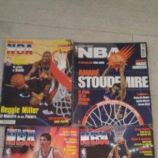 Coleccionismo deportivo: LOTE 4 REVISTA OFICIAL NBA NUMEROS 124 125 126 Y 174. Lote 182380956