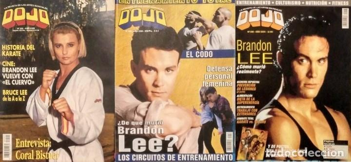 BRANDON LEE - TRES REVISTAS DE ARTES MARCIALES ''DOJO'' (Coleccionismo Deportivo - Revistas y Periódicos - otros Deportes)