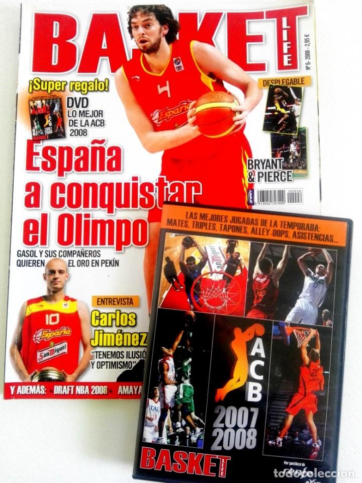 BASKET LIFE Nº 6 (2008) ESPAÑA A CONQUISTAR EL OLIMPO - CON DVD (Coleccionismo Deportivo - Revistas y Periódicos - otros Deportes)