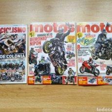 Coleccionismo deportivo: LOTE 3 REVISTAS MOTOCICLISMO Y MOTOS - HARLEY DAVIDSON - MOTO. Lote 182828612