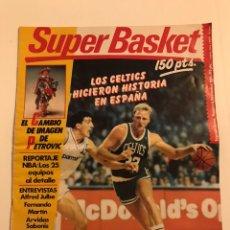 Coleccionismo deportivo: REVISTA SUPER BASKET, SEGUNDA ÉPOCA N.5 (1988); INCLUYE POSTER CENTRAL DE LARRY BIRD.. Lote 183400046