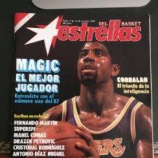 Coleccionismo deportivo: REVISTA ESTRELLAS DEL BASKET Nº 1 - OCTUBRE 1987 - INCLUYE POSTERS. Lote 183567827