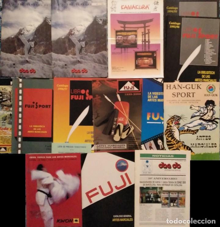 LOTE DE 13 CATÁLOGOS DE ARTES MARCIALES ''FUJI'', ''KAMAKURA'', ''KWON'', ETC. (AÑOS 90) (Coleccionismo Deportivo - Revistas y Periódicos - otros Deportes)