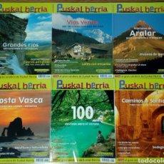 Coleccionismo deportivo: LOTE 6 PRIMEROS NÚMEROS REVISTA EUSKAL HERRIA (MONTAÑA, CULTURA, NATURALEZA VIAJES) 1, 2, 3, 4, 5, 6. Lote 183832982