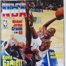 Coleccionismo deportivo: REVISTA OFICIAL NBA Nº 128 (ABRIL 2003) GARNETT, JORDAN, ODOM.... Lote 184003227