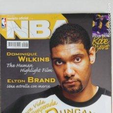 Coleccionismo deportivo: REVISTA OFICIAL NBA Nº 149 (ENE 2005) - DUNCAN, DOMINIQUE WILKINS, BRAND, KOBE.... Lote 184005077