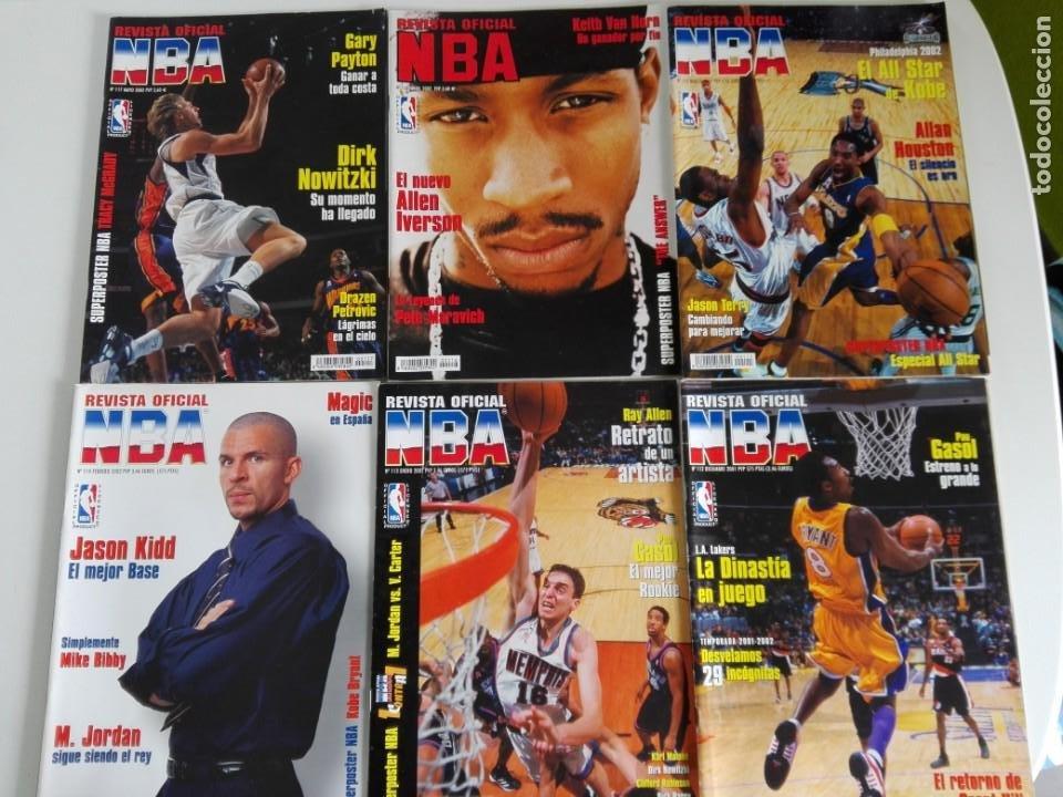 LOTE 6 REVISTAS OFICIAL NBA Nº 112-117 (2001/02) (Coleccionismo Deportivo - Revistas y Periódicos - otros Deportes)