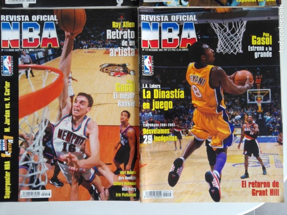 Coleccionismo deportivo: LOTE 6 REVISTAS OFICIAL NBA Nº 112-117 (2001/02) - Foto 2 - 184007541