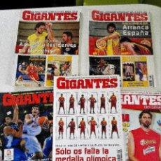 Coleccionismo deportivo: LOTE 5 REVISTAS GIGANTES DEL BASKET - SELECCIÓN ESPAÑOLA. Lote 184009953