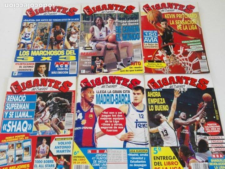 LOTE 6 REVISTAS GIGANTES DEL BASKET (1992/93) CON TARAS (Coleccionismo Deportivo - Revistas y Periódicos - otros Deportes)