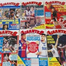 Coleccionismo deportivo: LOTE 6 REVISTAS GIGANTES DEL BASKET (1992/93) CON TARAS. Lote 184054957